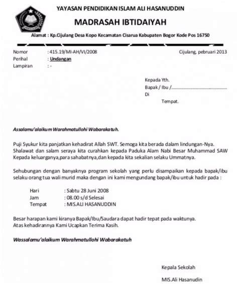 Contoh Surat Undangan Sekolah by 7 Contoh Surat Undangan Rapat Resmi Rt Perusahaan