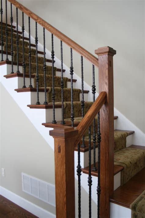iron banister rails santa fe series square edge hammered single sphere