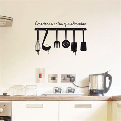 Cheap Wall Mural vinilo para la cocina de utensilios colgados con la frase