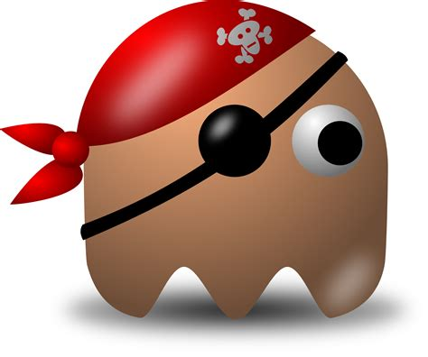 clipart free avatar pirate character wearing eyepatch and bandana