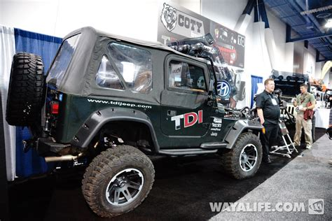 jeep diesel conversion 2013 sema tdi jeep diesel conversion