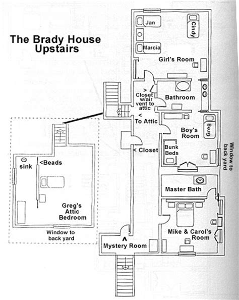 brady bunch floor plan brady bunch house floor plans