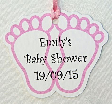 Baby Shower Gift Tag by Personalised Baby Shower Footprint Favour Gift Tags