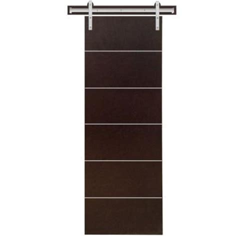 interior barn door hardware home depot steves sons 24 in x 90 in modern stained hardwood
