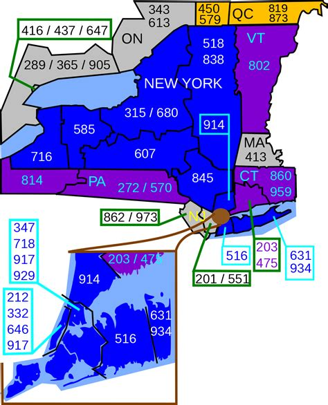us area codes that start with 9 list of new york area codes