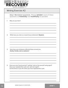 12 steps of recovery worksheets davezan