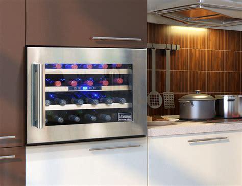24 modern wine refrigerators in interior designs messagenote 24 bottle seamless wall mounted wine cooler modern