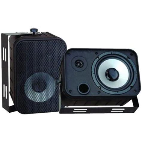 pyle 6 5 in indoor outdoor waterproof speaker pdwr50b