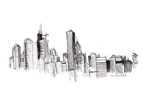 new york skyline drawing 1