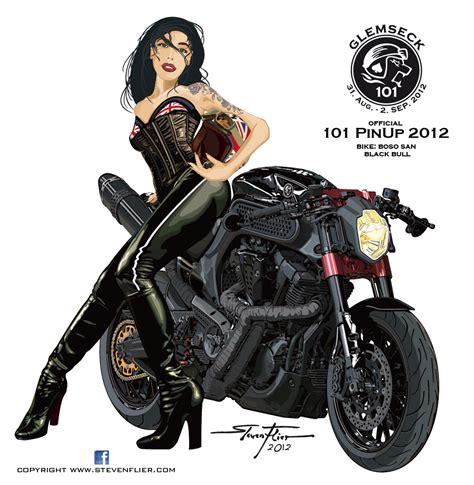 Motorrad Pin Up Tattoo by Grafik Atelier Steven Flier Pinup Glemseck 101 2012