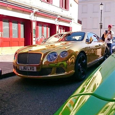 gold chrome bentley 53 best images about chrome wrapped cars on pinterest