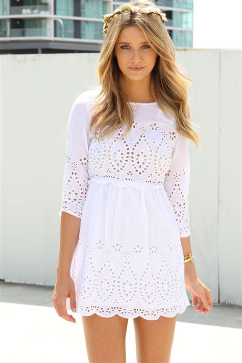 Trends For Summer Eyelet Accents When You Just Cant Commit Second Cty Style Fashion by 25 Best Ideas About White Summer Dresses On