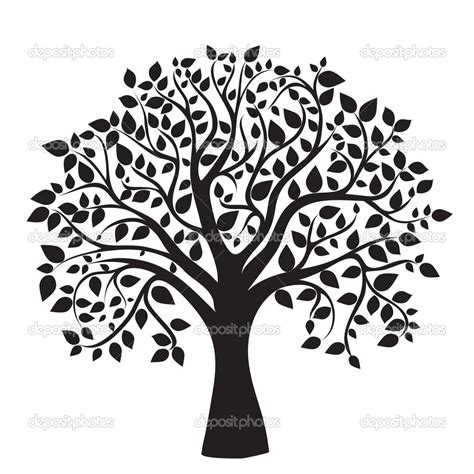 The Gallery For Gt Family Tree Black And White Family Tree Clip Vector