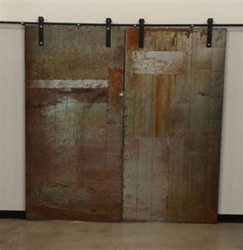 Industrial Closet Doors Metal Sliding Doors View In Your Room Houzz