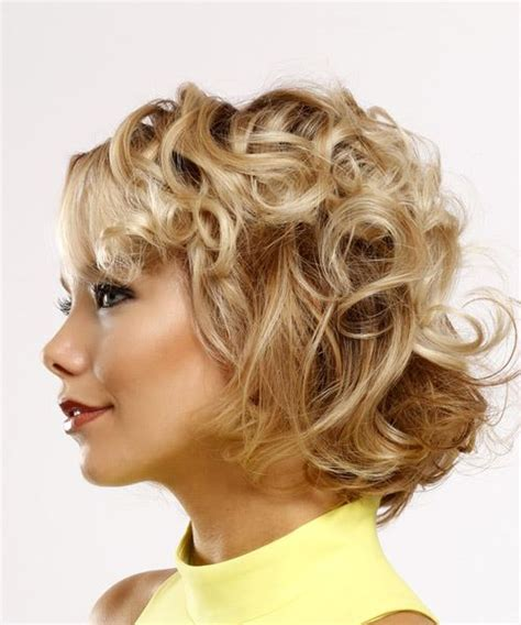 swoop bangs with short curly hair short hairstyles and haircuts for women in 2018