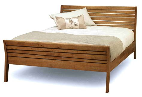 Bed Frame Wood Black Wooden Bed Frame With Bars On The Board Also White Brown Bedding Sheet With Plus