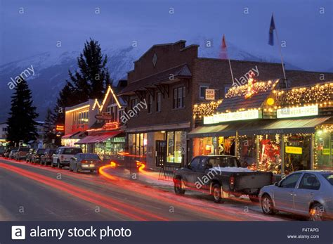 Free Email Search Canada Jasper Town Jasper National Park Alberta Canada Stock Photo Royalty Free Image