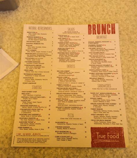 true food kitchen brunch lunch menu yelp