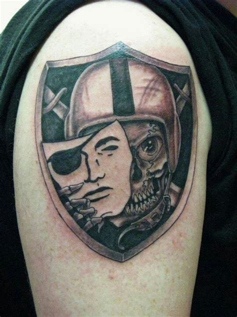 raiders skull tattoo designs raiders