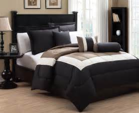6 piece king tranquil black and taupe comforter set