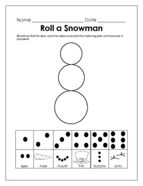 printable dice games for kindergarten kindergarten common core math activity january roll a