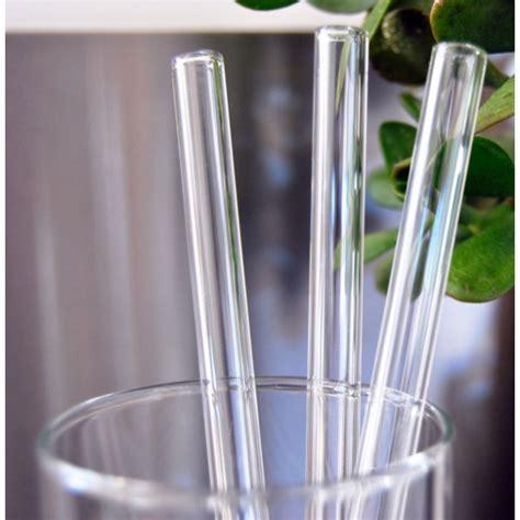 Glass Straw glass straw 9mm regular straw clear biome