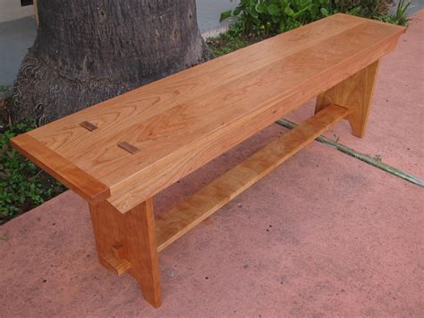 shaker style bench shaker style bench in cherry by jackmoony lumberjocks