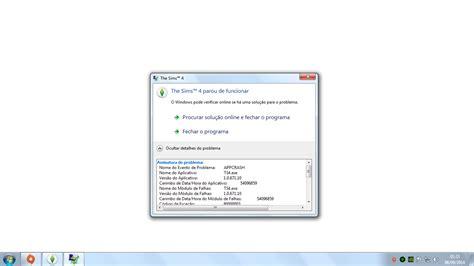 O Audio Do Meu Notebook Parou De Funcionar Windows 8 by Erro The Sims 4 Parou De Funcionar The Sims Brazil