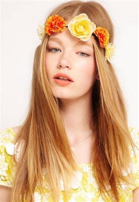 hairstyles thin hairstyles with flowers