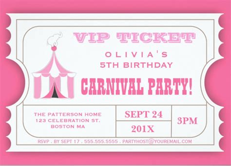 carnival event invitation ticket template carnival ticket invitation template orderecigsjuice info