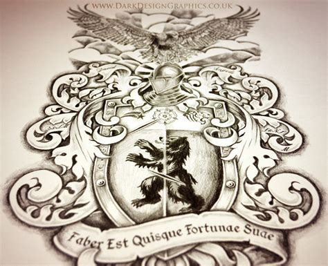 creating your own coat of arms dark design graphics