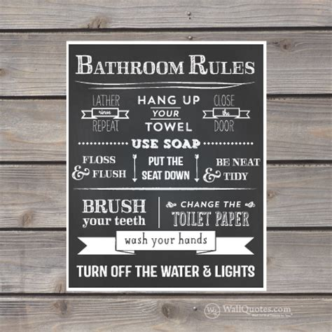 online bathroom quote bathroom rules chalk wall quotes gicl 233 e art print