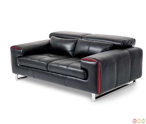 modern leather loveseat michael amini mia bella modern leather loveseat black by aico