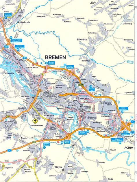 germany bremen map bremen map size