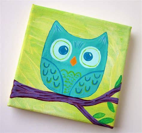 painting ideas for kids 17 best ideas about owl canvas paintings on pinterest