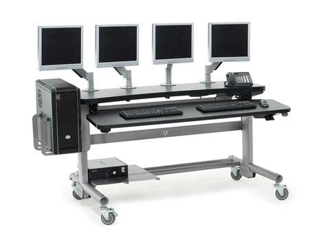 computer room desks anthro adjustable height modular computer desks