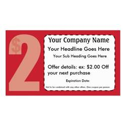 Coupon Card Template by 2 00 Coupon Card Sided Standard Business Cards