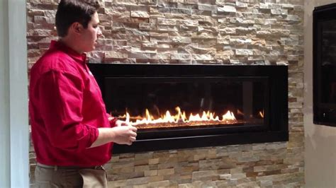 Outdoor Linear Fireplace - napoleon linear gas fireplace lv50 propane natural gas product review lv502 youtube