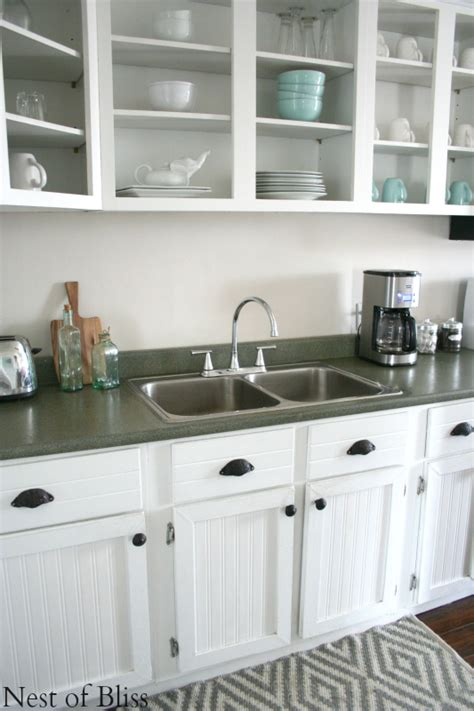 Spray Paint Kitchen Countertops by Remodelaholic How To Spray Paint Faux Granite Countertops