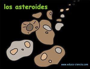 dibujos de asteroides y meteoritos para colorear el sistema solar infantil