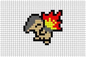Pokemon cyndaquil pixel art brik