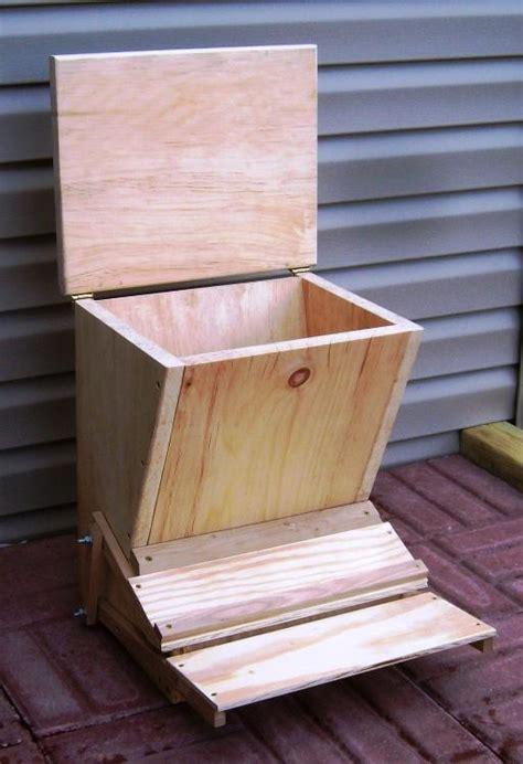 chicken feeder plans   build  treadle feeder