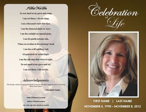 funeral cards templates 31 funeral program templates free word pdf psd