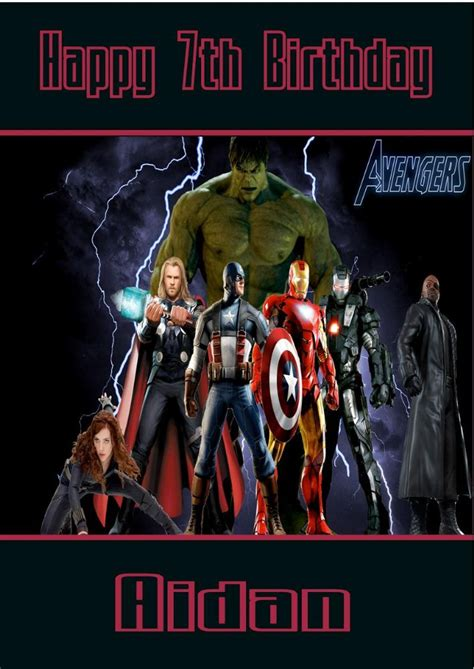 marvel birthday card template personalised birthday card design 1