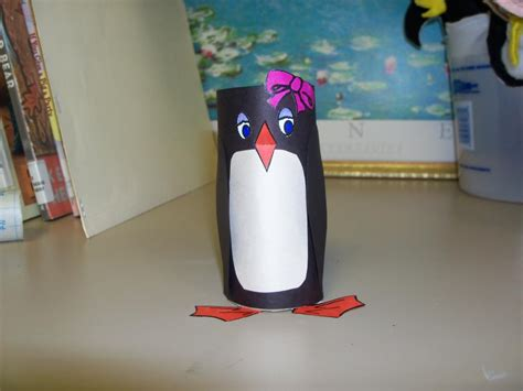 Penguin Toilet Paper Roll Craft - toilet paper roll penguins librerin