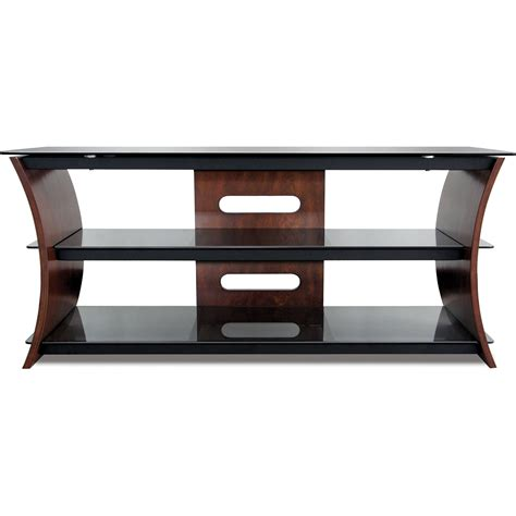 tv stands audio cabinets bell o cw356 curved wood tv stand cw356 b h photo video