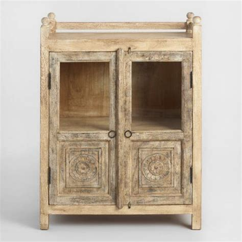 Distressed Antique Cabinet With Glass Doors World Market Distressed Cabinet Doors