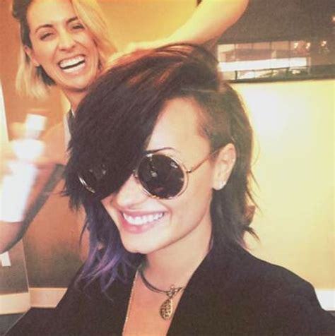 short biography demi lovato demi lovato chops off lots of hair the hollywood gossip