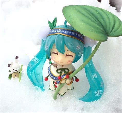 Nendoroid 493 Hatsune Miku Snow Bell Ver Nendo Vocaloid Figure Kws vocaloid hatsune miku rabbit yukine nendoroid 493
