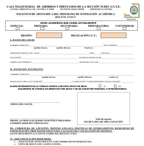 becas de verano convocatoria becas de issstecali solicitud becas de caja magisterial de ahorros y pr 233 stamos snte54